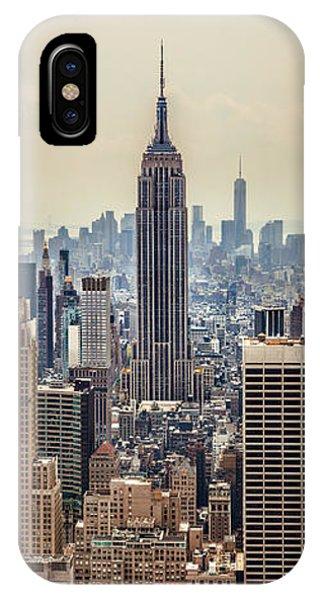 New York City Skyline iPhone Case - Sprawling Urban Jungle by Az Jackson