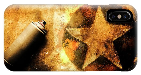 Visual iPhone Case - Spray Can With Army Star Graffiti by Jorgo Photography - Wall Art Gallery