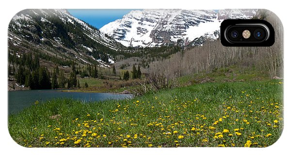 Spring At The Maroon Bells IPhone Case