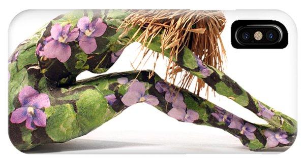 Violet iPhone Case - Spring Awakens Sculpture by Adam Long