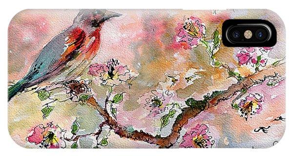Spring Bird Fantasy Watercolor  IPhone Case