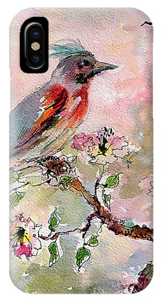 Spring Bird Fantasy Watercolor  IPhone Case