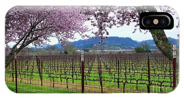 Spring Blossoms Near Calistoga IPhone Case