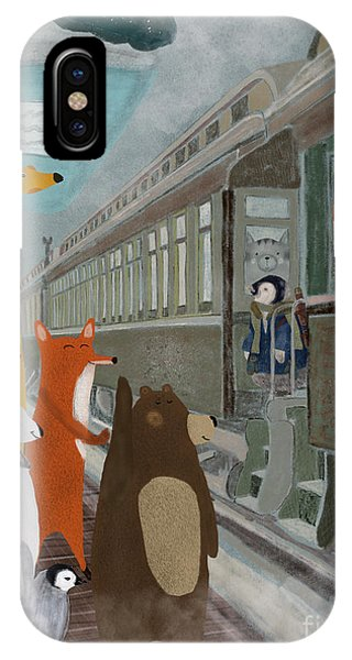 Trains iPhone Case - Spring Break by Bri Buckley