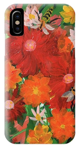 Spring Bumble Bees IPhone Case
