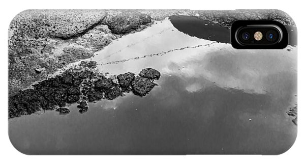 Spring Clouds Puddle Reflection IPhone Case