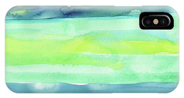 Fresh iPhone Case - Spring Colors Pattern Horizontal Stripes by Olga Shvartsur