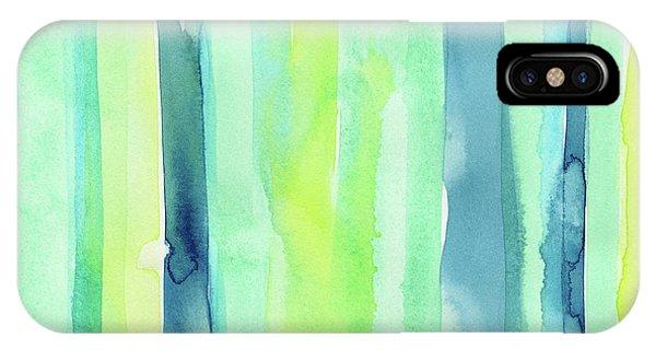 Fresh iPhone Case - Spring Colors Stripes Pattern Vertical by Olga Shvartsur