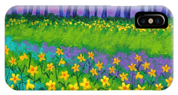 Violet iPhone Case - Spring Daffodils by John  Nolan