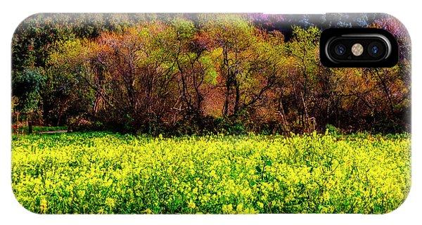 Half Moon Bay iPhone Case - Spring Field by Garry Gay
