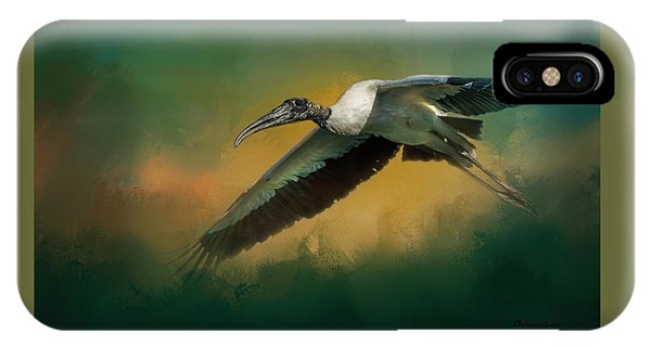 Stork iPhone Case - Spring Flight by Marvin Spates