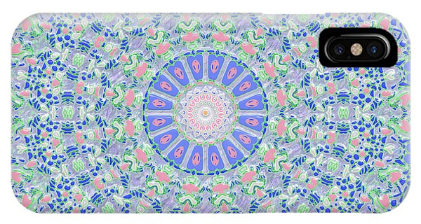 IPhone Case featuring the digital art Spring Flood Kaleidoscope by Joy McKenzie