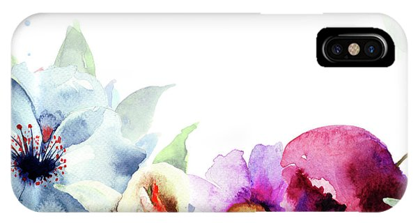 Spring Floral Background IPhone Case