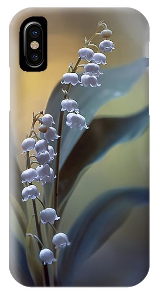 Lily iPhone Case - White Pearls by Magda  Bognar