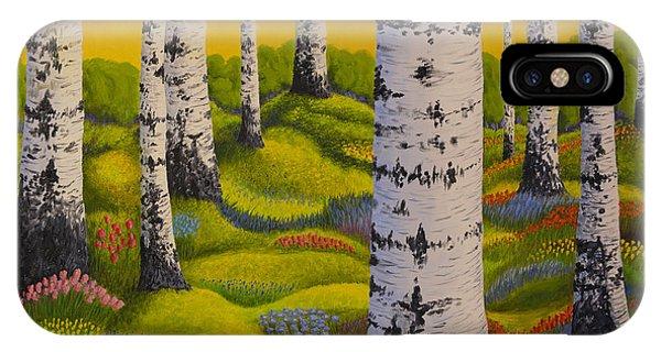 Salo iPhone Case - Spring Forest by Veikko Suikkanen