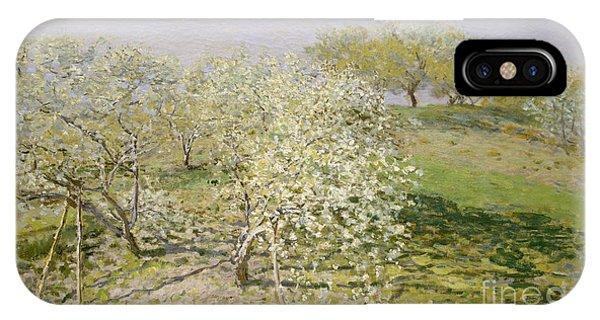 Spring, Fruit Trees In Bloom, 1873 IPhone Case