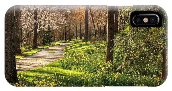 Spring Garden Path IPhone Case