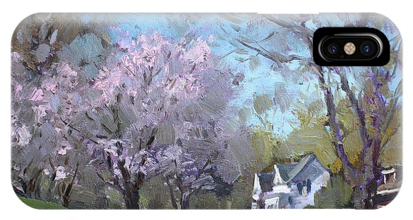 Blooming iPhone Case - Spring In J C Saddington Park by Ylli Haruni