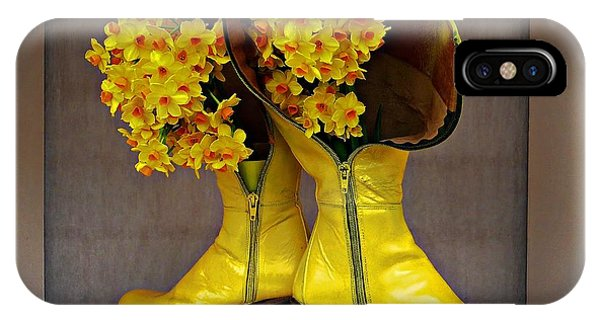 Spring In Yellow Boots IPhone Case