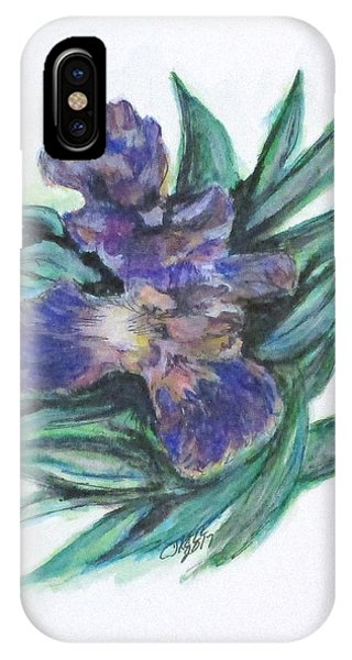 Spring Iris Bloom IPhone Case