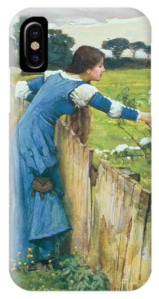 Blue Dress iPhone Case - Spring by John William Waterhouse