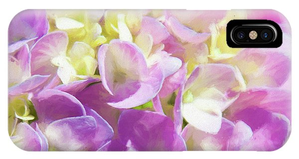 IPhone Case featuring the photograph Spring Lavender Hydrangea Painterly 1 by Andee Design
