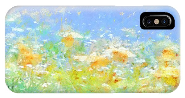 Spring Meadow Abstract IPhone Case
