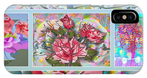 IPhone Case featuring the digital art Spring Medley by Eleni Mac Synodinos