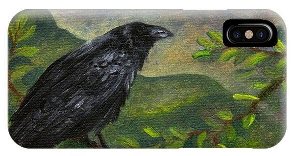Spring Moon Raven IPhone Case