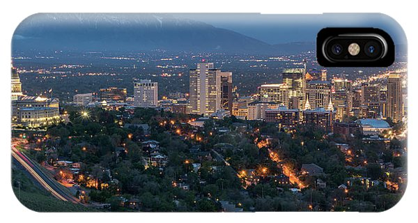 Capitol Building iPhone Case - Spring Night In Salt Lake City by James Udall