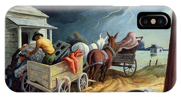 IPhone Case featuring the painting Spring On The Missouri by Thomas Hart Benton