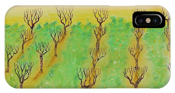 Mustard iPhone Case - Spring Orchard Sunset by Michele Myers