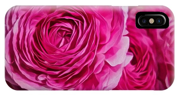 Spring Pink Roses IPhone Case