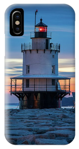 Spring Point Ledge Light Blue Hour II IPhone Case