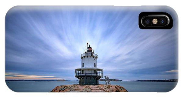 Navigation iPhone Case - Spring Point Ledge Light Station by Rick Berk