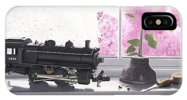 Spring Rain  Electric Train IPhone Case
