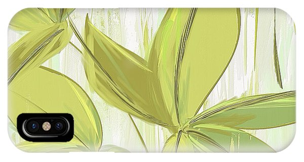 Spring Shades - Muted Green Art IPhone Case
