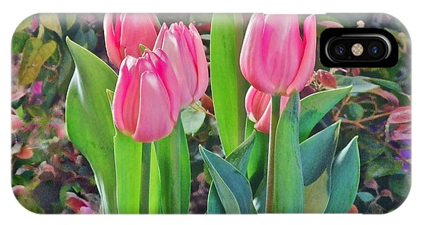 Spring Show 14 Pink Tulips  IPhone Case