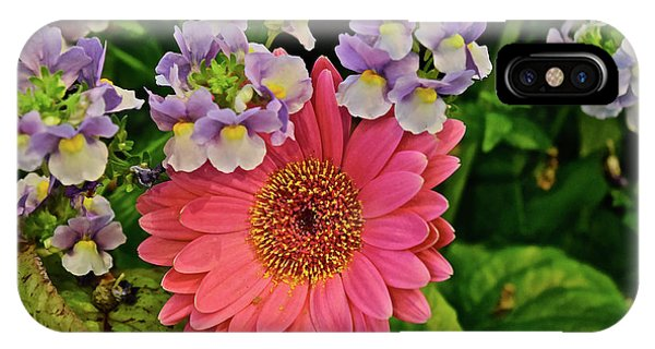 IPhone Case featuring the photograph Spring Show 18 Gerbera Daisy With Snapdragons by Janis Nussbaum Senungetuk
