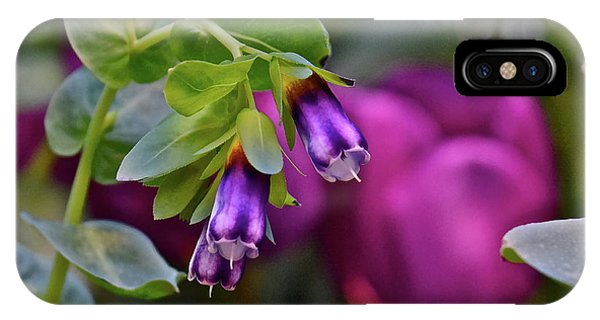 IPhone Case featuring the photograph Spring Show 18 Violet Bells by Janis Nussbaum Senungetuk