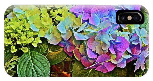 IPhone Case featuring the photograph Spring Show Bigleaf Hydrangea by Janis Nussbaum Senungetuk