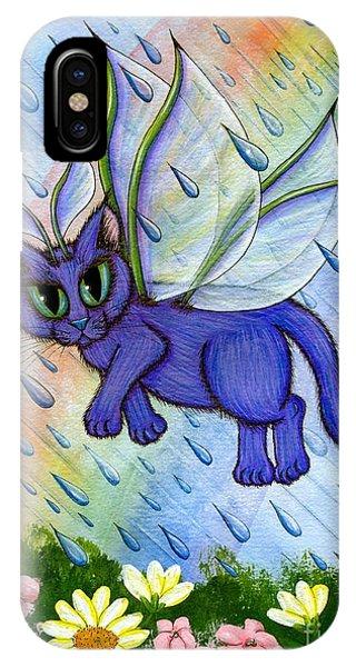 Spring Showers Fairy Cat IPhone Case