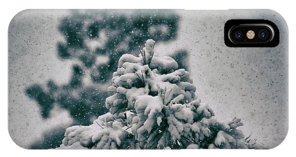 Spring Snowstorm On The Treetops IPhone Case