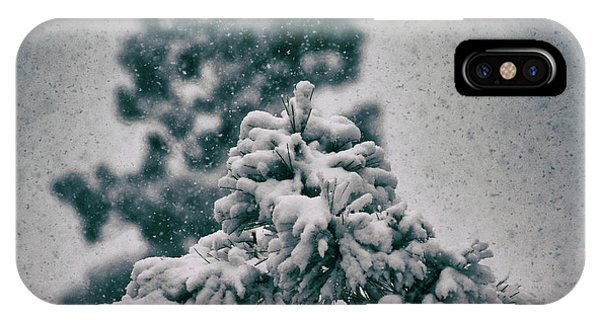 IPhone Case featuring the photograph Spring Snowstorm On The Treetops by Jason Coward