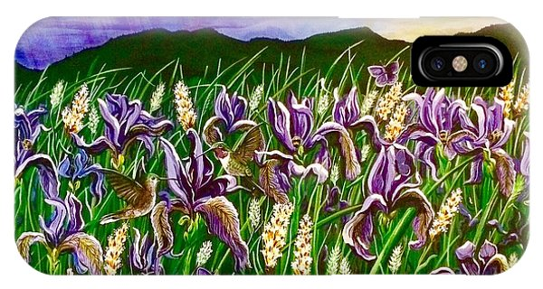 Spring Storm  Iris Fields IPhone Case