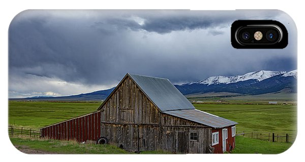 Sangre De Cristo iPhone Case - Spring Storm Looms Above The Wet Mountain Valley by Bridget Calip