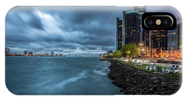 Storm Season In Detroit  IPhone Case
