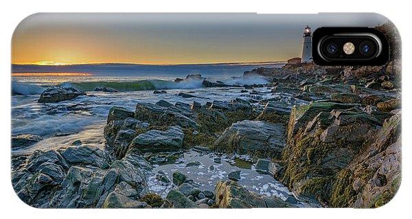 Navigation iPhone Case - Spring Sunrise At Portland Head by Rick Berk