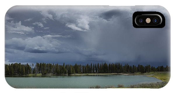 Spring Thunderstorm At Yellowstone IPhone Case