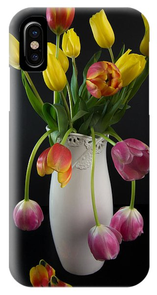 Spring Tulips In Vase IPhone Case